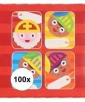 Sint kado stickers cartoon 100 stuks