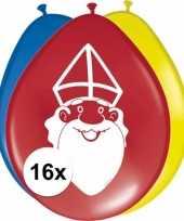 Sinterklaas 16x sinterklaas ballonnen 27 cm