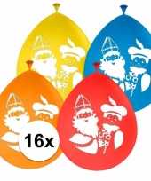 Sinterklaas 16x sinterklaas en piet ballonnen