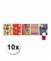 Sinterklaas kado papier rol 10x