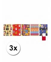Sinterklaas kado papier rol 3x
