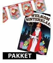 Sinterklaas slinger 10 meter met duerposter a1