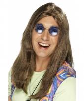 Sixties hippie pruik voor mannen