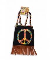 Sixties tas met peace teken