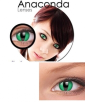 Slangen ogen groen kleurlenzen