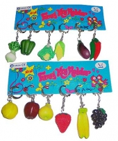 Sleutelhanger van groente en fruit