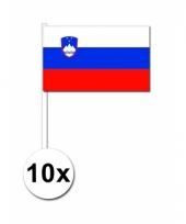 Slovenie zwaai vlaggetjes 10 stuks