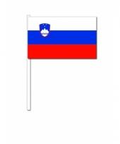 Slovenie zwaai vlaggetjes 12 x 24 cm