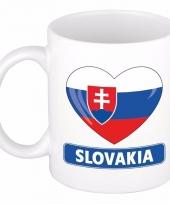 Slowaakse vlag hartje koffiemok 300 ml