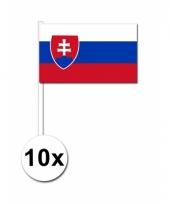 Slowakije zwaai vlaggetjes 10 stuks