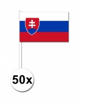 Slowakije zwaai vlaggetjes 50 stuks