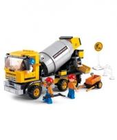 Sluban bouwstenen cementwagen