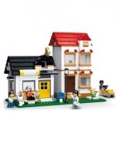 Sluban huizen bouwsteentjes set