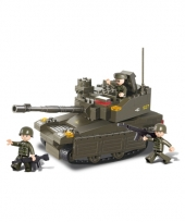 Sluban schaalmodel tank met 3 soldaatjes 33 x 23 7 cm