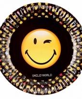 Smile emoticon wegwerpbordjes 8x