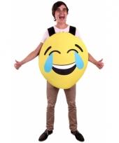 Smiley emoticon kostuum met lachend gezicht voor volwassenen