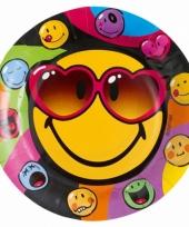 Smiley feestbordjes 8 stuks