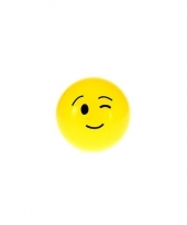 Smiley stuiterbal knipoog 8 cm