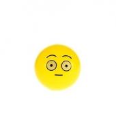 Smiley stuiterbal verbaasd 8 cm