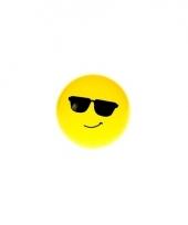 Smiley stuiterbal zonnebril 8 cm