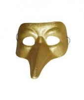 Snavel masker goud glimmend