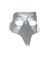 Snavel masker zilver glimmend