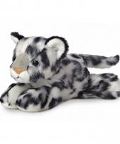 Sneeuwluipaard knuffeltje 20 cm