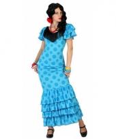 Spaans dames kostuum blauw