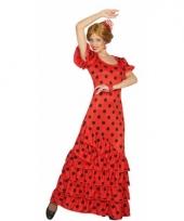 Spaans dames kostuum rood