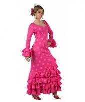 Spaans dames kostuum roze