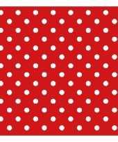 Spaanse thema servetten rood met witte stippen