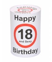 Spaarpot 18e verjaardag 15 cm