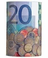 Spaarpot 20 euro biljet 10 x 15 cm