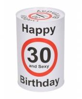 Spaarpot 30e verjaardag 15 cm