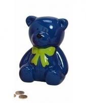 Spaarpot blauwe teddybeer 20 cm