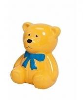 Spaarpot gele teddybeer 20 cm