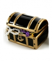 Spaarpot schatkist met juwelen 12 cm