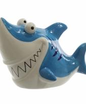 Spaarpotje blauwe haai 24 cm