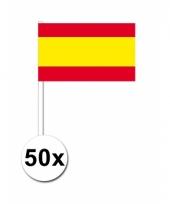 Spanje zwaai vlaggetjes 50 stuks