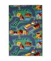 Speeldekens dorp met wegen 100 x 165 cm