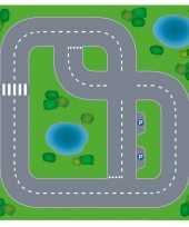 Speelgoed autowegen stratenplan wegplaten dorpje set karton