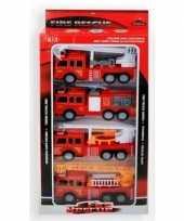 Speelgoed brandweerauto set 4 delig