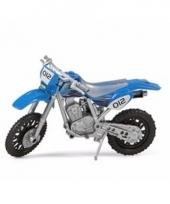 Speelgoed cross motor blauw