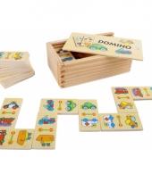 Speelgoed domino spel voertuigen