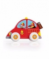 Speelgoed hout brandweer autootje