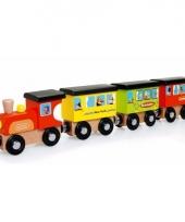Speelgoed houten treintje 31 cm