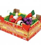 Speelgoed kist voor groente winkeltje