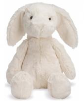 Speelgoed knuffels konijn wit 19 cm
