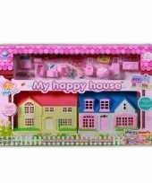 Speelgoed poppenhuisjes met accessoires
