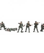 Speelgoed soldaten van plastic 6 stuks